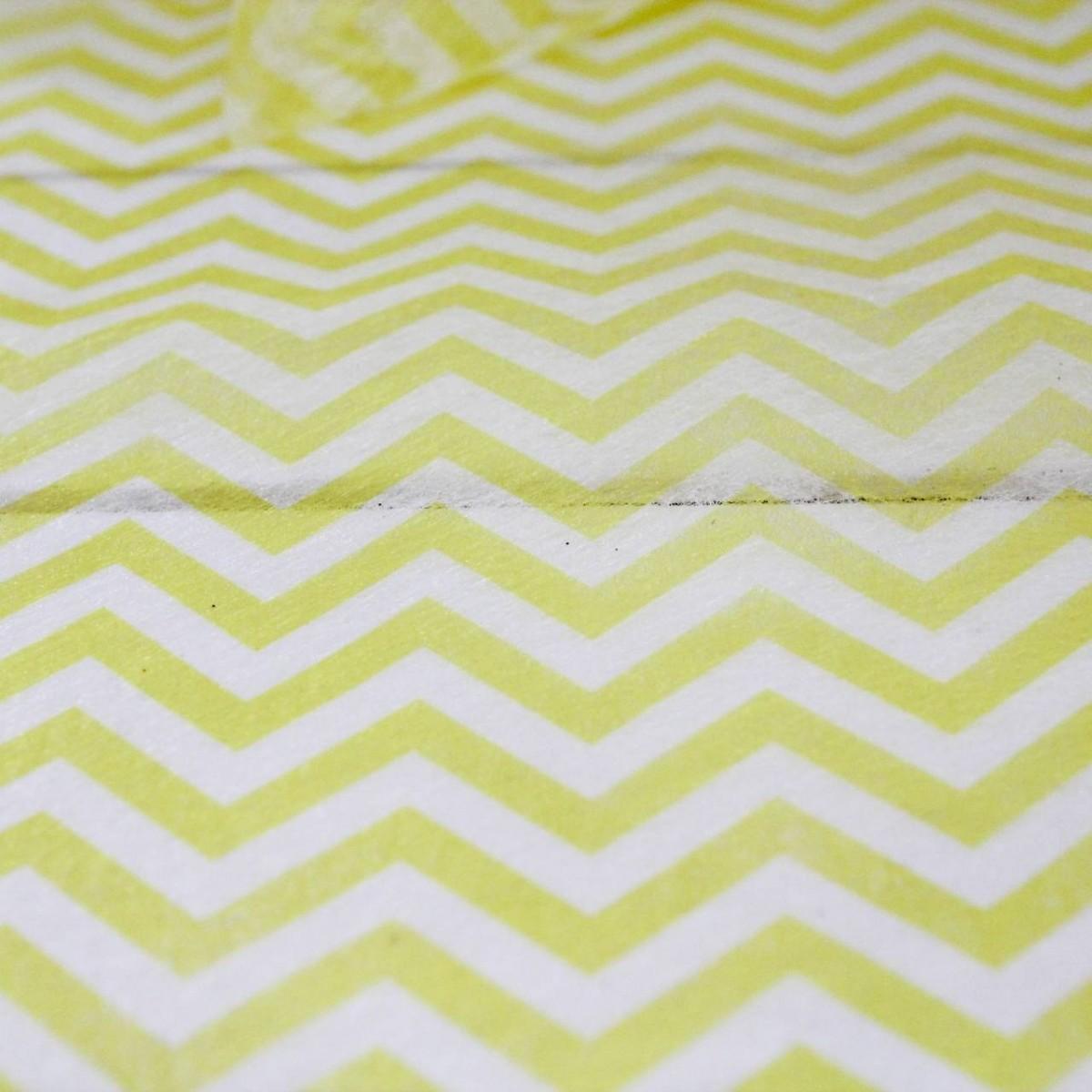 5 m de chemin de table chevron jaune pour la d co de - Tissu pour chemin de table ...