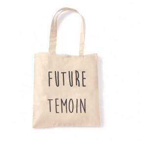 """Tote Bag """"Future Témoin"""" Naturel"""