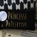 """Pochette """"Princesse à Paillettes"""""""