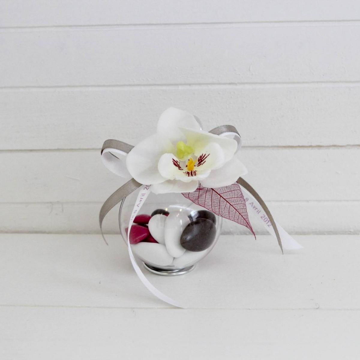 Boule orchid e les p tites f es - Boule plastique transparente pas cher ...
