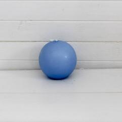 Bougie ronde 7 cm bleu ciel