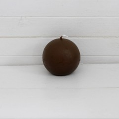 Bougie ronde 7 cm marron