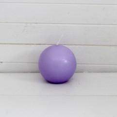 Bougie ronde 7 cm mauve