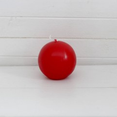 Bougie ronde 7 cm rouge