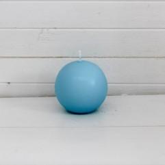 Bougie ronde 7 cm turquoise