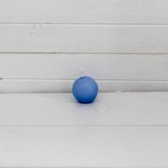 Bougie ronde 3,2 cm bleu ciel