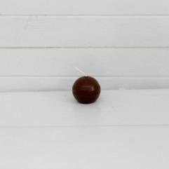 Bougie ronde 3,2 cm marron