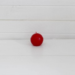 Bougie ronde 3,2 cm rouge