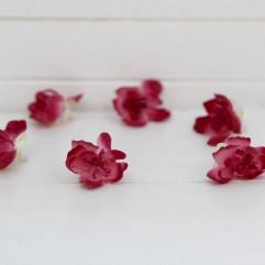 6 fleurs de cerisier fuchsia