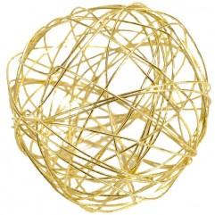 Assortiment de boules dorées