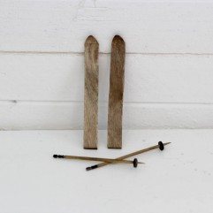 Paire de ski et baton