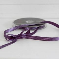 1 m de ruban à pois violet