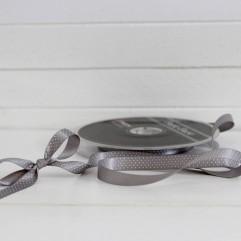1 m de ruban à pois gris