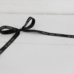 20 m de ruban noir imprimé personnalisable