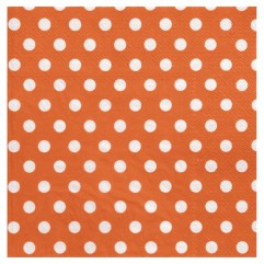 20 Serviettes orange À Pois