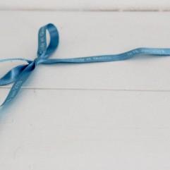20 m de ruban turquoise imprimé personnalisable