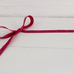 20 m de ruban fuchsia imprimé personnalisable