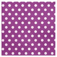 20 Serviettes violettes À Pois