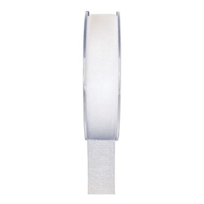 20 Mètres De Ruban Organdi Blanc