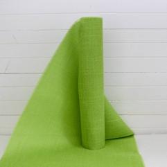 5m de chemin de table en toile de lin vert