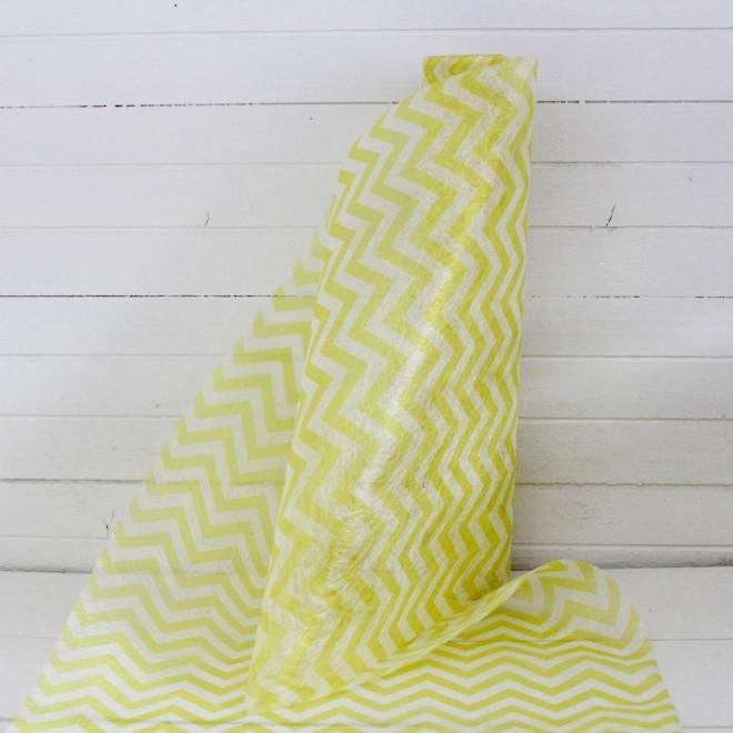 5 m de chemin de table chevron jaune pour la d co de - Le chemin de table ...