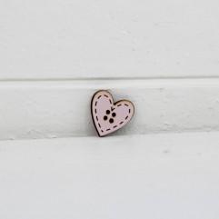 Bouton coeur rose