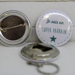 Coffret badge Parrain mint
