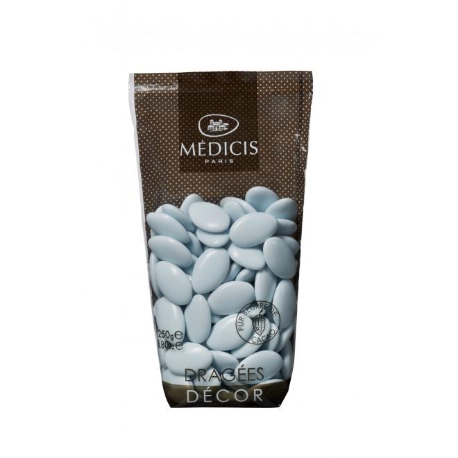 250 g de dragées chocolat laqué bleu