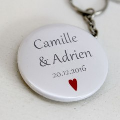Badge 50mm personnalisable coeur