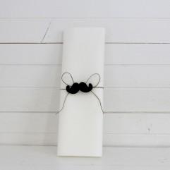 Rond de serviette Moustache