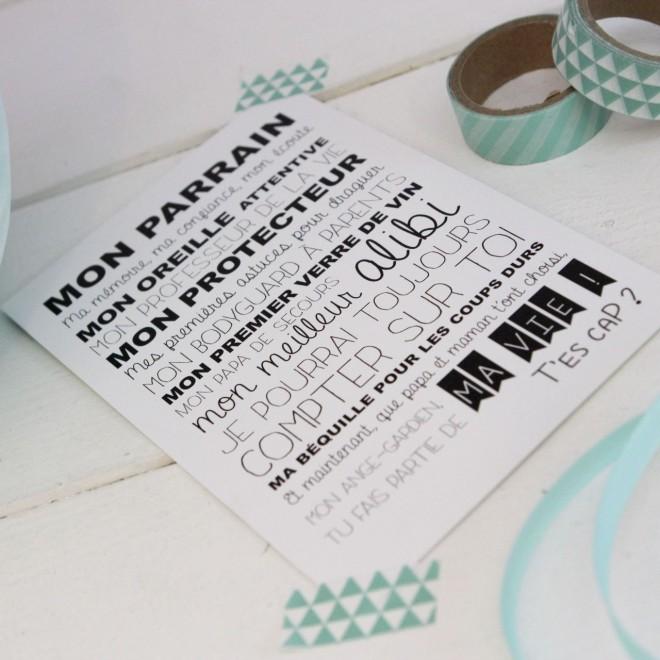 """Carte Postale """"mon parrain"""""""