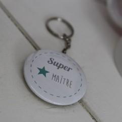 """Porte clé """"Super maître"""""""