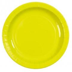 10 assiettes en carton verte