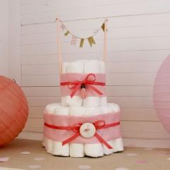 Gâteau de couches flamant rose
