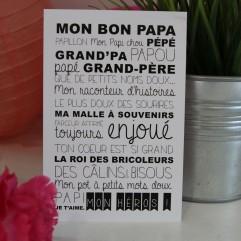 """Carte Postale """"mon grand-père"""""""