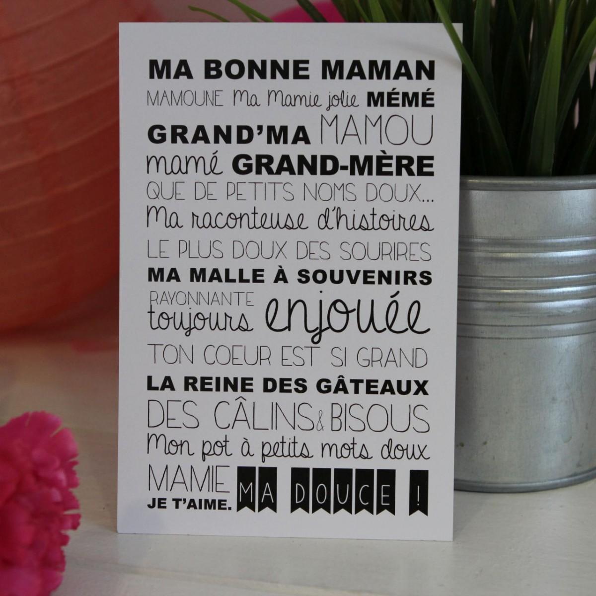 Carte postale ma grand m re les p tites f es - Cadeau anniversaire grand mere ...
