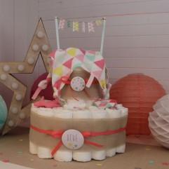 """Gâteau de couches """"étoiles"""" fille"""