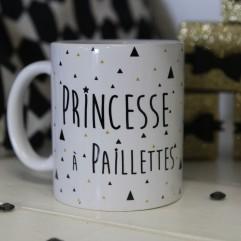 """Mug """"princesse à paillettes"""""""