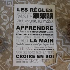 """Carte Postale """"les règles de la classe"""" Maître"""