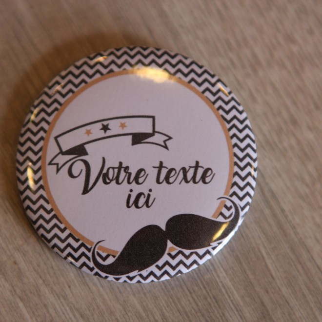 Badge et divers moustache personnalisable