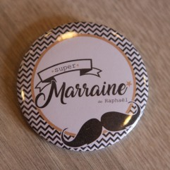 Super Marraine moustache personnalisable