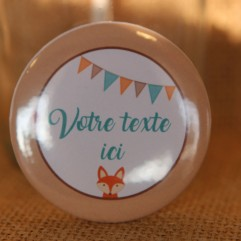 Badge et divers renard personnalisable