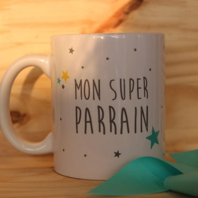 """Mug """"Mon Super Parrain"""" personnalisable"""