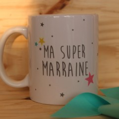 "Mug ""Ma super marraine"" personnalisable"