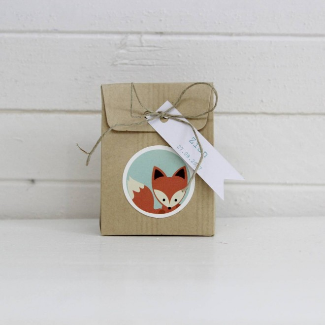 pochon en carton renard