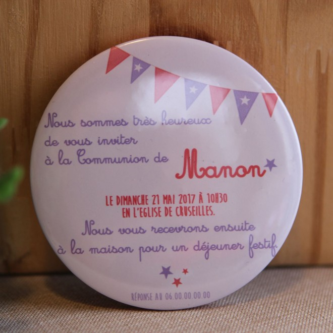"Invitation Communion ""Manon"" magnet"