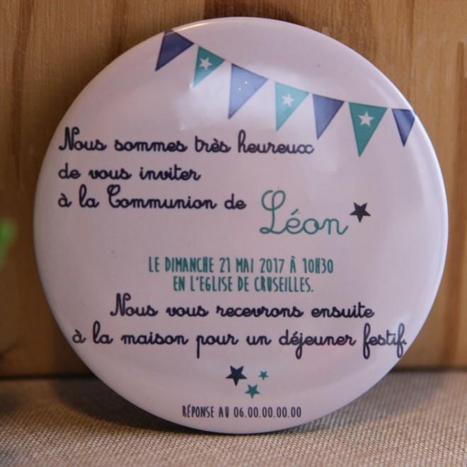 """Invitation Communion """"Léon"""" magnet"""