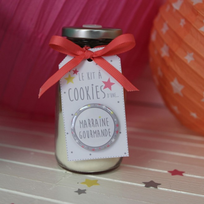 "Kit à cookies ""ma marraine gourmande"""