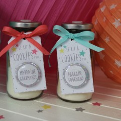 """Duo de Kit à cookies """"Marraine et parrain Gourmands"""""""