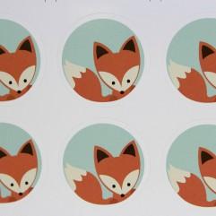 10 autocollants renard